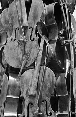 Cellos Black And White Art Print