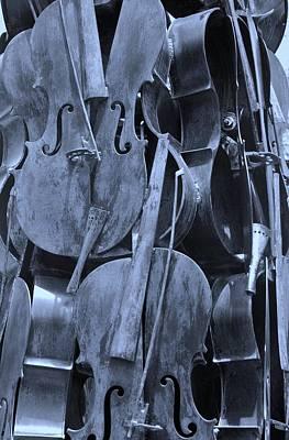 Cellos Cyan Art Print