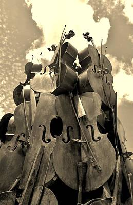 Af Vogue Rights Managed Images - Cellos In The Sky Sepia1 Royalty-Free Image by Rob Hans