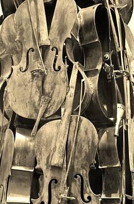 Cellos Sepia Art Print