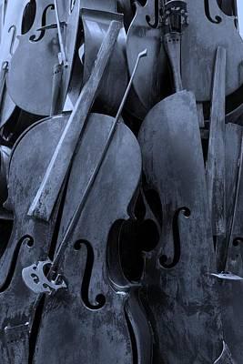 Cellos4 Cyan Art Print