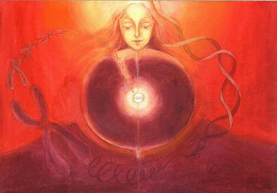 Painting - Cellular Yoga by Shiva  Vangara