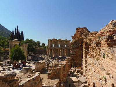 Photograph - Celsius Library Ephesus Ruins by Lou Ann Bagnall