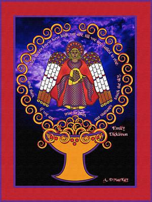 Celtic Angel Rising Art Print