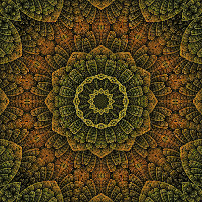 Digital Art - Celtic Blossom K12-og-2 by Doug Morgan