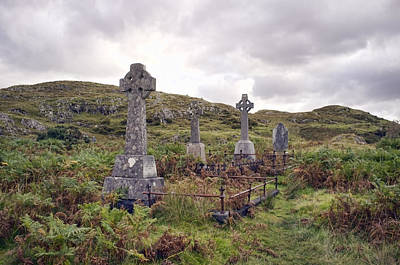 Art Print featuring the photograph Celtic Cemetary by Hugh Smith