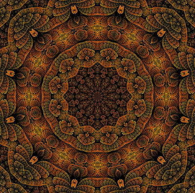 Digital Art - Celtic Corkscrew K12-curtained by Doug Morgan