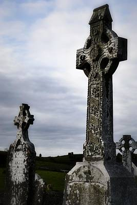 Photograph - Celtic Croses Clonmacnoise by Nadalyn Larsen