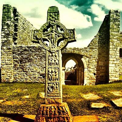 Travel Photograph - Celtic Cross - Ireland by Luisa Azzolini