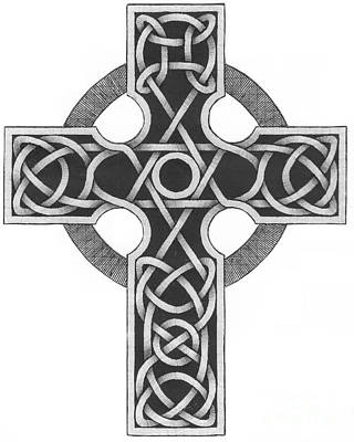Celtic Cross Art Print by Chris Tetreault