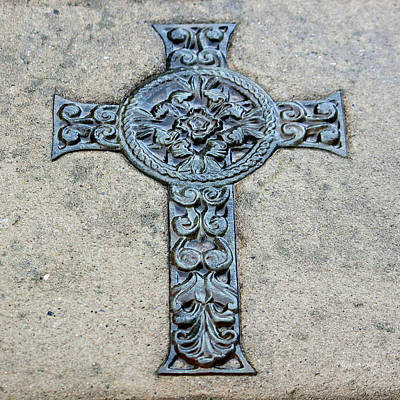 Fine Art Relief Photograph - Celtic Cross IIi by Suzanne Gaff