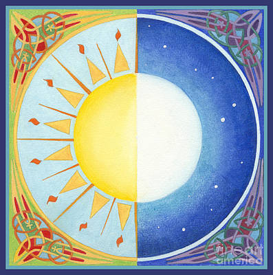 Celtic Equinox Sun And Moon Original by Melissa A Benson
