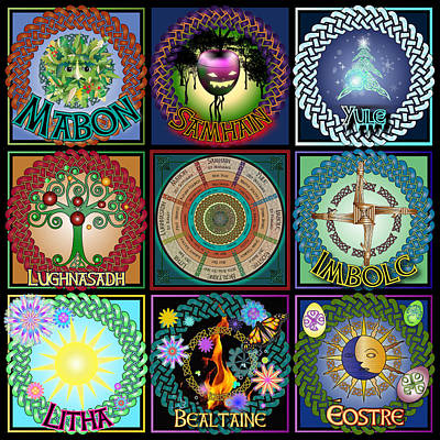 Digital Art - Celtic Festivals Calendar by Ireland Calling