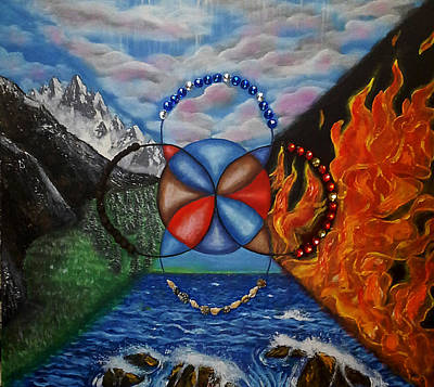 Painting - Celtic Five Fold by Jacqueline Martin