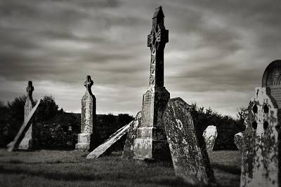 Photograph - Celtic Graveyard Clonmacnoise by Nadalyn Larsen
