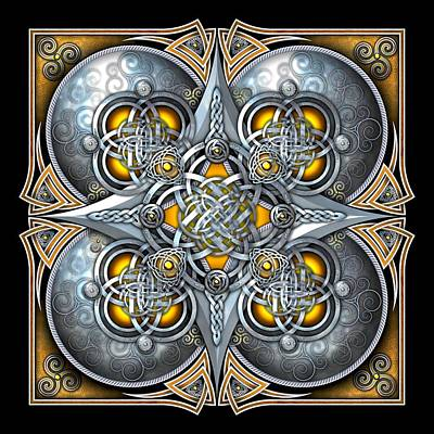 Photograph - Celtic Hearts - Gold And Silver by Richard Barnes