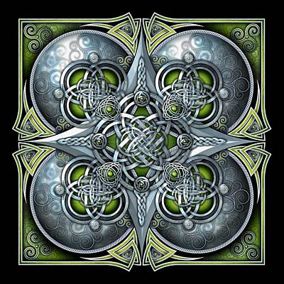 Photograph - Celtic Hearts - Green And Silver by Richard Barnes