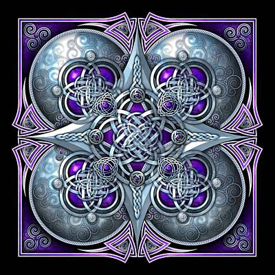 Photograph - Celtic Hearts - Purple And Silver by Richard Barnes