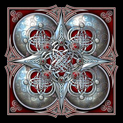 Photograph - Celtic Hearts - Red by Richard Barnes