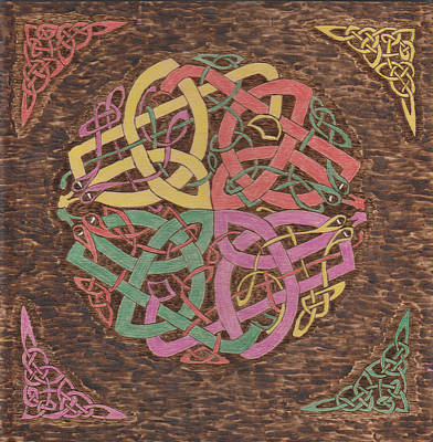 Pyrography - Celtic Knot 3 by David Yocum
