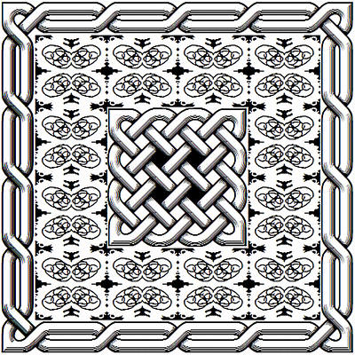 Celtic Knot Abstract Art Print