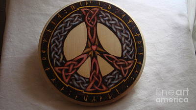 Pyrography - Celtic Love And Peace by Dakota Sage