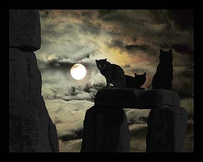 Photograph - Celtic Nights Selective Coloring by I'ina Van Lawick