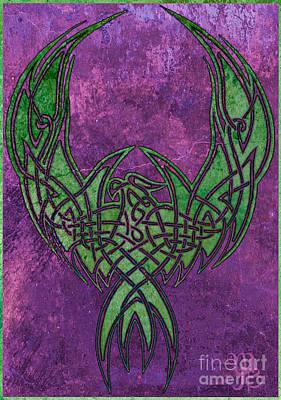 Digital Art - Celtic Phoenix by Mindy Bench