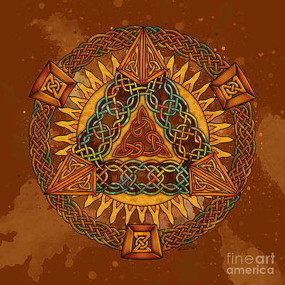 Mixed Media - Celtic Pyramid Mandala by Kristen Fox