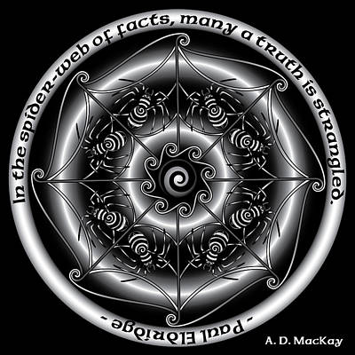 Celtic Spider Mandala Art Print