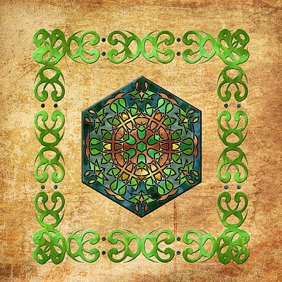 Painting - Celtic Stained Glass Diamond by Kandy Hurley