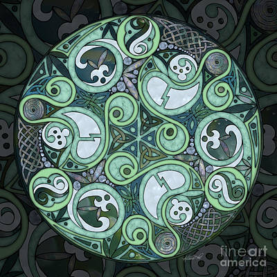 Mixed Media - Celtic Stormy Sea Mandala by Kristen Fox