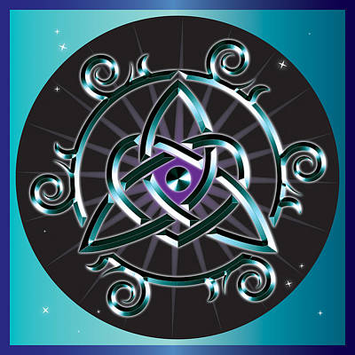 Digital Art - Celtic Triquetra Heart by Ireland Calling