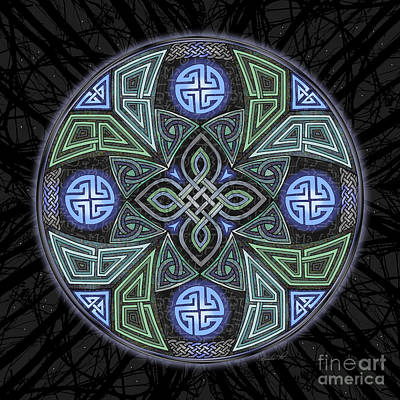 Paranormal Mixed Media - Celtic Ufo Mandala by Kristen Fox