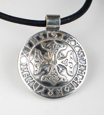 Jewelry - Celtic Viking Cross Rune Calendar by Vagabond Folk Art - Virginia Vivier