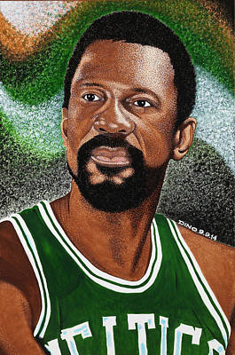 Celtics Legend Bill Russell Art Print