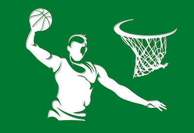 Celtics Shadow Player1 Print by Joe Hamilton