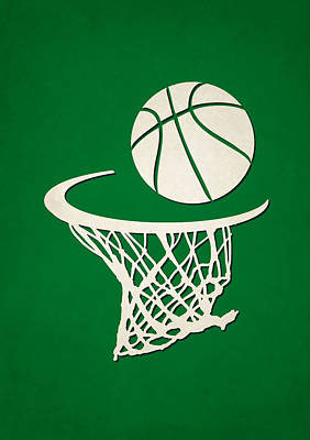Celtics Team Hoop2 Print by Joe Hamilton