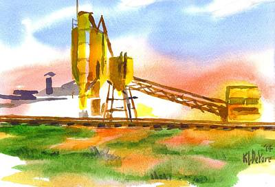 Cement Plant Across The Tracks Art Print