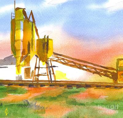 Train Tracks Painting - Cement Plant II by Kip DeVore