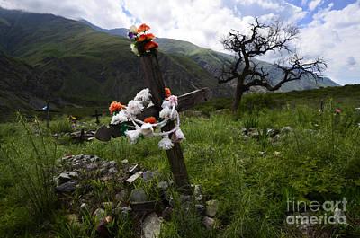 Photograph - Cementario Volcon Chile 2 by Bob Christopher