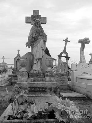 Photograph - Cemetary Cross by Sonia Flores Ruiz