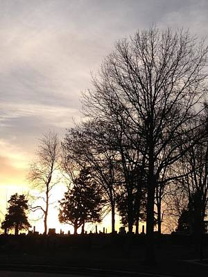 Cemetery Sunset Art Print by Jerry Browning