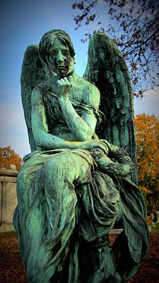 Photograph - Cemetery Angel 1 by Anita Burgermeister