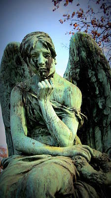 Photograph - Cemetery Angel 2 by Anita Burgermeister