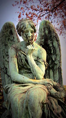 Photograph - Cemetery Angel 3 by Anita Burgermeister