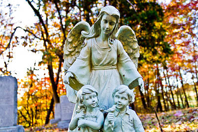 Photograph - Cemetery Angel by Jonny D