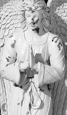 Photograph - Cemetery Angel by Mary Bedy