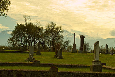 Photograph - Cemetery At Dusk - Sky by Marie Jamieson
