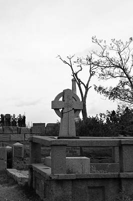 Photograph - Cemetery Cross by Brent Dolliver